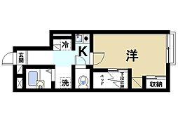 近鉄奈良線 近鉄奈良駅 バス8分 高畑住宅前下車 徒歩5分の賃貸アパート 1階1Kの間取り