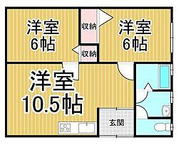 [一戸建] 岡山県倉敷市中島 の賃貸【岡山県 / 倉敷市】の間取り