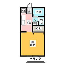 フロム・田A棟[2階]の間取り