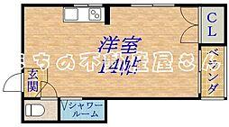 エクセレント新森[4階]の間取り