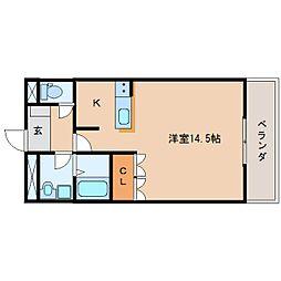 静岡県静岡市清水区船越2丁目の賃貸マンションの間取り