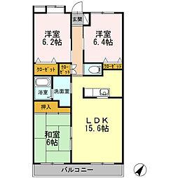 D-room ハイビジョン[5階]の間取り