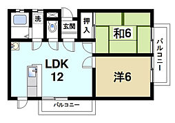 西大寺ガーデンハイツ[1階]の間取り