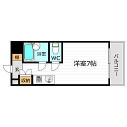 プレジデント横田[4階]の間取り