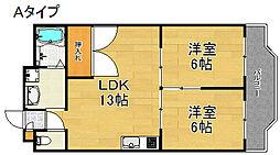 メゾンドール北加賀屋[4階]の間取り