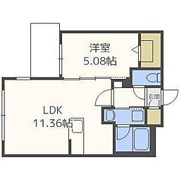 リアンマルヤマ[2階]の間取り