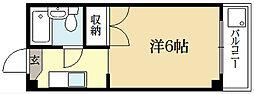 ロイヤルコーポタカノ[1階]の間取り