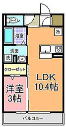 仮)D−room中成沢町[303号室]の間取り