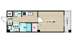 リーブル福島2 1階1Kの間取り