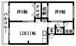 マンション110[3階]の間取り
