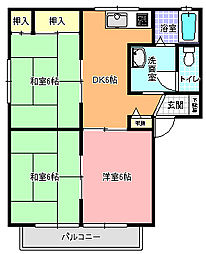 サンクレスト B棟[2階]の間取り