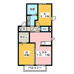 (仮)D−roomウィットS宮子町B[1階]の間取り