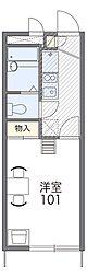 南海高野線 北野田駅 3.7kmの賃貸アパート 2階1Kの間取り