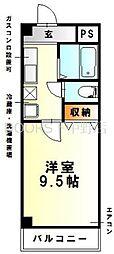 フォレスト東古松[8階]の間取り