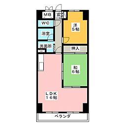 ライオンズマンション大須[10階]の間取り