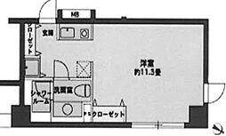 東京都中央区日本橋蛎殻町1丁目の賃貸マンションの間取り