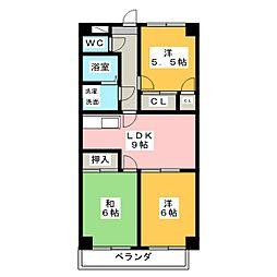 ニッコーハイツ[2階]の間取り