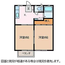 パナハイツ井川城[1階]の間取り