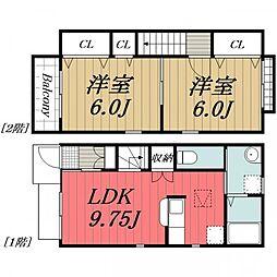 [タウンハウス] 千葉県八街市八街ほ の賃貸【/】の間取り