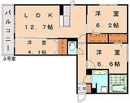 仮)D-room古賀市中央[1階]の間取り
