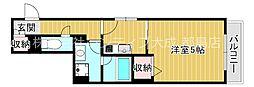 Osaka Metro谷町線 都島駅 徒歩8分の賃貸マンション 1階1Kの間取り