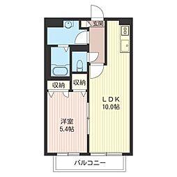 シャーメゾンM・S・A[202号室]の間取り