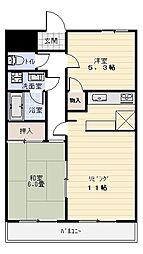 メゾンカリフ[2階]の間取り