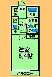 JR横浜線 淵野辺駅 徒歩11分の賃貸アパート 3階1Kの間取り