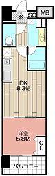 (仮)博多駅東3丁目プロジェクト[603号室]の間取り