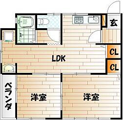 紫映荘[2階]の間取り