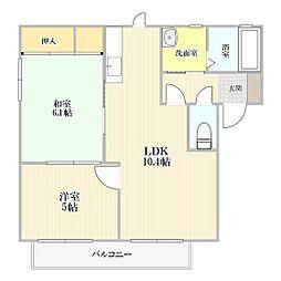 アーバンプレイス I棟[2階]の間取り