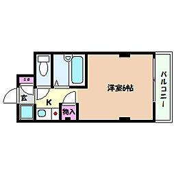 兵庫県神戸市灘区大和町4丁目の賃貸マンションの間取り