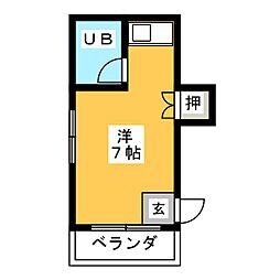 インテリジェント神宮[1階]の間取り
