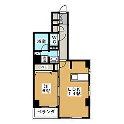 仮称 中京区下八文字町マンション[5階]の間取り