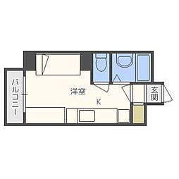 e−ハウス[407号室]の間取り