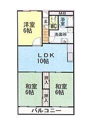 ルネアルマーニ 4階3LDKの間取り