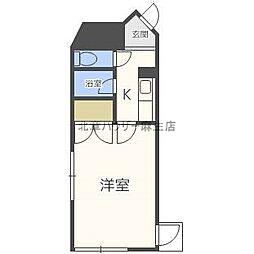 北海道札幌市北区新琴似八条1丁目の賃貸マンションの間取り