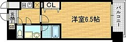 大阪府大阪市北区鶴野町の賃貸マンションの間取り