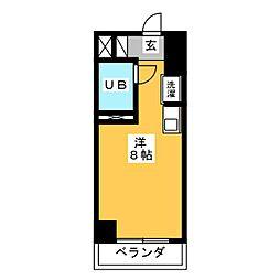 ラフィネ杁中[4階]の間取り