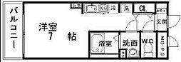 愛知県岡崎市真伝町の賃貸マンションの間取り