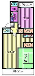 プリムローズ南浦和[4階]の間取り