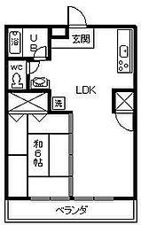 コーポ古川[102号室]の間取り