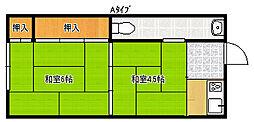 コーポタイセイ3号館[3階]の間取り