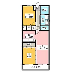 グラン・アベニュー富船[8階]の間取り