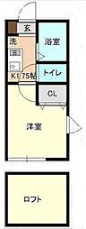 神奈川県横浜市金沢区六浦2丁目の賃貸アパートの間取り