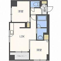 北海道札幌市中央区北五条西23丁目の賃貸マンションの間取り