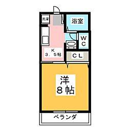 メゾン秋桜[1階]の間取り