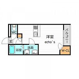 レオネクスト多田新田[2階]の間取り