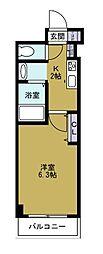 グランパシフィック堀江WEST[6階]の間取り