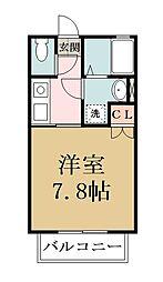 (仮)エビスハイツ[2階]の間取り